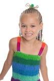 härlig flickawhite för bakgrund Arkivbild