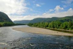 Härlig flod i Norge Arkivbilder