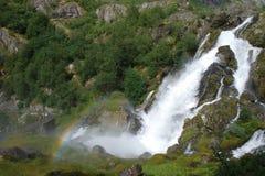 Härlig flod i Norge Arkivbild