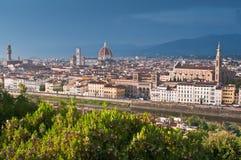 härlig florence italy panorama- sikt Royaltyfri Fotografi