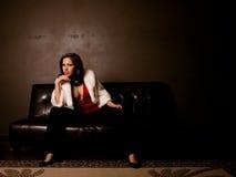 härlig flott kvinna fotografering för bildbyråer