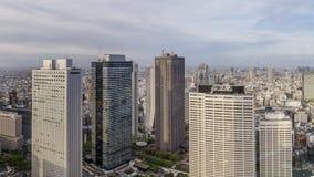 Härlig flyg- sikt av centret, Tokyo, Japan royaltyfri foto