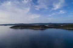 Härlig flygbild av Rogoznica Dalmatia, Kroatien royaltyfria bilder