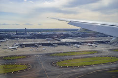 Härlig flygplatssikt Arkivbild