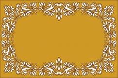 Härlig folkkonst, blom- garnering arkivbild