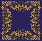 Härlig folkkonst, blom- garnering royaltyfri foto