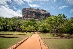 Härlig forntida Lion Rock fästning Sigiriya Sri Lanka royaltyfri fotografi