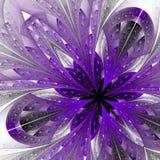 Härlig fractal i lilor. royaltyfri illustrationer