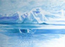 Härlig framställning av nordpolen stock illustrationer