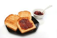 härlig frukostplats Royaltyfria Foton