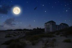 härlig fullmåne Arkivfoto