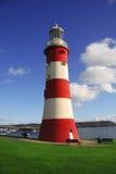 härlig fyr plymouth uk Fotografering för Bildbyråer