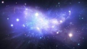 Härlig galaxbakgrund stock illustrationer