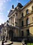 Härlig gammal arkitektur av Szczecin, Polen arkivfoto