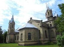 Härlig gammal kyrka, Lettland royaltyfria foton
