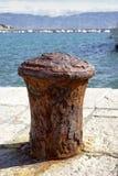 Härlig gammal oxidated boj Arkivfoto