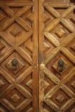 Härlig gammal planläggande dörr arkivfoto