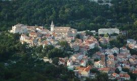 Härlig gammal stad nära Rijeka croatia Royaltyfri Bild