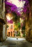 Härlig gammal stad Provence för konst Arkivbild