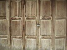 Härlig gammal trädörrtexturbakgrund Royaltyfria Bilder