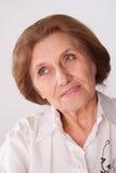 härlig gammalare kvinna Arkivfoton