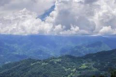 Härlig Gangtok bergskedja, Sikkim arkivbilder