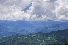 Härlig Gangtok bergskedja, Sikkim royaltyfri fotografi