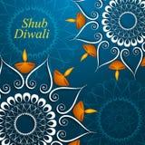Härlig garneringDiwali för beröm färgrik diya  vektor illustrationer