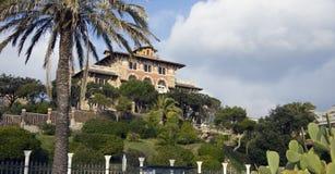 härlig gaslinigenoa villa Fotografering för Bildbyråer