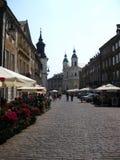 Härlig gata i Prague, Tjeckien Arkivbild