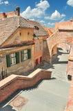 Härlig gata i Sibiu Royaltyfria Bilder