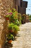 Härlig gata i Spello italy arkivbild