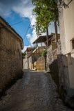 Härlig gata på Zakynthos, Grekland Fotografering för Bildbyråer