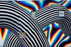 Härlig gatakonst av grafitti Idérik drawin för abstrakt färg Arkivbilder