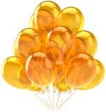 härlig genomskinlig yellow för ballons Royaltyfri Foto