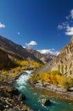 Härlig Ghizer dal i nordliga Pakistan Fotografering för Bildbyråer
