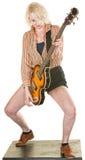 Härlig gitarrist arkivbilder