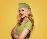Härlig glamorös blond kvinna Royaltyfri Bild