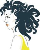 härlig glamorös kvinna stock illustrationer