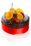 härlig glasad cakechokladfrukt Royaltyfri Bild