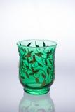härlig glass green Arkivfoton