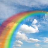 Härlig Glass regnbåge Arkivfoto