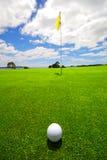 härlig golfgreen Fotografering för Bildbyråer