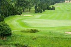 härlig golfpark Royaltyfri Bild