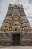 Härlig gopuram för hinduisk tempel arkivfoton
