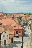 Härlig gränd i Sibiu Arkivfoton