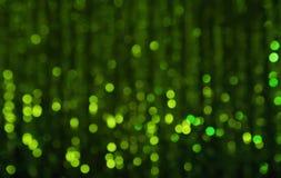 Härlig grön bakgrund med bokehljus Royaltyfri Foto