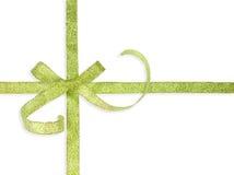 Härlig grön bow Royaltyfria Bilder