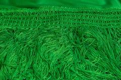 Härlig grön manila sjal Tappningspanjormanton arkivbild