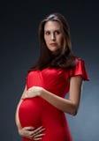 Härlig gravid kvinna Royaltyfria Foton